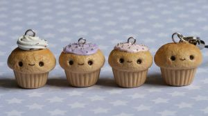 Kawaii Cupcake Charms by RawrRufus