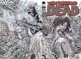 WALKING DEAD #100 SKETCH COVER by stalk