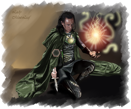 Loki-Master of the fire by LadyMintLeaf
