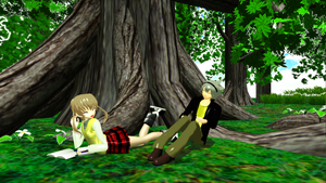 MMD Maka x Soul by MikeMotto