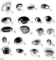 20 manga eye reference doodles by Loves-Chihuahuas