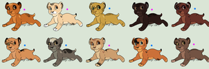 Mystery Cub Adoptables - Set 03 [SOLD] by Hyridexi