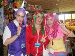 Rarity And Pinkie Pie at Animinneapolis 2012 by MadHatterMadi