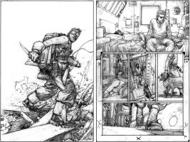 Wild Blue Yonder Issue 4 Pencils by Spacefriend-KRUNK