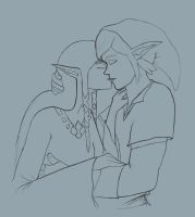 Zelda and Link: Skyward Kiss by bigducky
