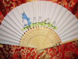 Totoro! - handpainted Paperfan by Ganjamira