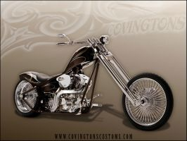 Brown Chopper Motorcycle by random667