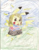 Rose Tyler Pikachu by LiloandStitchFan