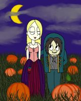 Weird Girl and Edgar: Hocus Pocus Pumpkin Patch by sailorlovesong