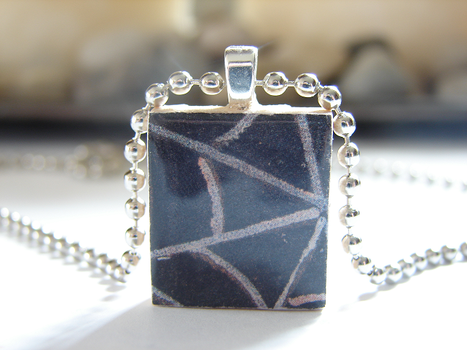 Spider Web Scrabble Pendant by PastryStitches