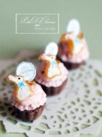Bunny cupcakes by PetitDeCherries