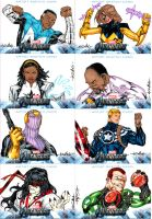 Avengers sketchcards set 7 by SpiderGuile