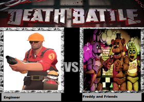 Death Battle: Engineer vs. Freddy and Friends by kart42