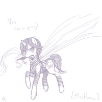 Ponified Vin - Mistborn by Dark-Pen