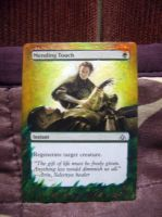 Altered Magic card: The Gathering Mending touch by idielastyr
