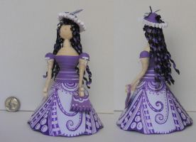 Purple Quilling and Zentangle Doll by staceysmile