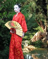geisha in red by scarlet-moon1