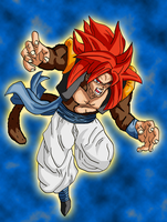 Gogeta SS4 Colored by cheeeba