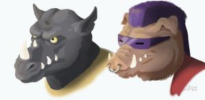 Bebop-and-Rocksteady by CallidusVafer