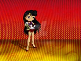 Chibi Sailor Mars by thedustyphoenix