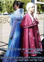 evil Elsa and frozen Anna by PPLyra