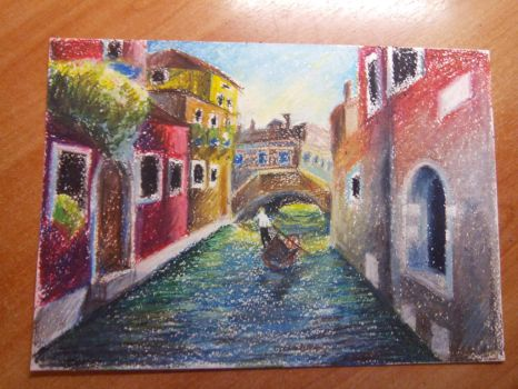 Tried to use oil pastels first time by Brudens