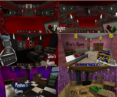Manor rooms so far... by Bloodthorne999