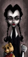 Wednesday Addams -Happy V-day- by SpookyChan