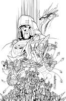 TF MTMTE 50 cover lineart by markerguru