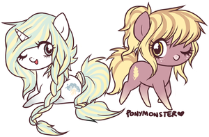 luminesce and farina by ponymonster