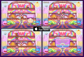 Rainbow Cakes iphones by Moogl