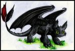 Little colored sketch-Toothless by xXAlfaX
