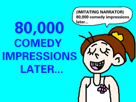 Luan Loud - 80,000 Comedy Impressions Later... by MikeEddyAdmirer89