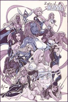 Ladies of Marvel Tonal Markers by torsor