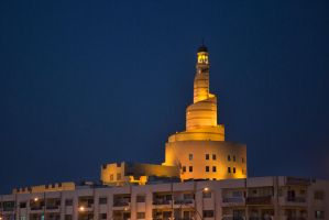 Spiral Mosque at night by TomFawls