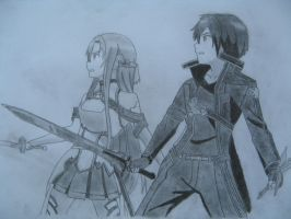 Kirito and Asuna by Jack-sensei