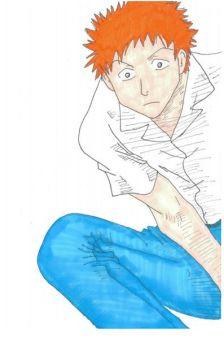 Ichigo Pops a Squat by im-waterproof