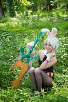 Battle Bunny Riven IV by EnchantedCupcake