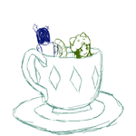 a cup of meowrailigence purrlease by minieverfeel