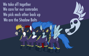 Shadow bolts wallpaper by RageRex
