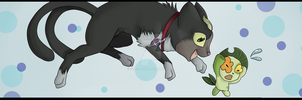 -Blue Exorcist- Kuro and Nii Bookmark by Godspoison