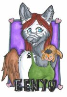 Badge Trade Eenyu Wolf by pagedrillgirl