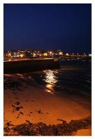 Harbour at Night by dollydaydream