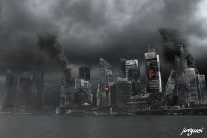 Destroyed City of Dreams by afterfxpro