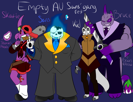 Empty AU Sans' gang ref by ReneesDetermination