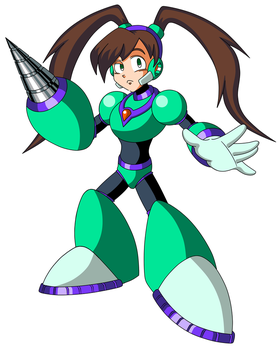 Archie Mega Man's Quake Woman by JusteDesserts