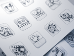 Vizzywig iOS Icon Design Process by Ramotion