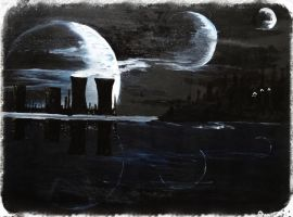 3 Phases Of Moon by WrenArt