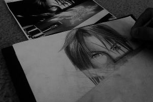 Squall Pencil Drawing by julydart