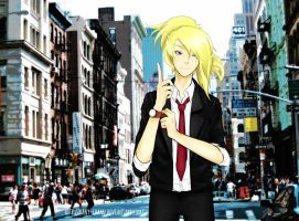 City suit Deidara by Pany-chaan